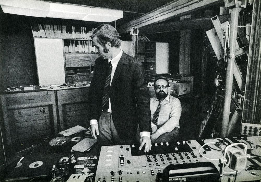 Krzysztof Penderecki i Eugeniusz Rudnik